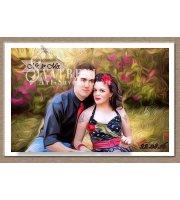 Сватбени Магнити с Рисунък - Маслено Платно 9х6 см :: Картини по Снимка #01-20