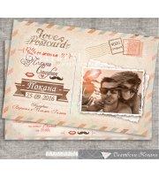Сватбена Покана - Тема Love Postcard №П092