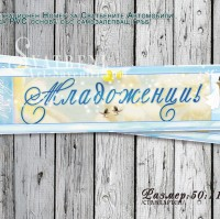 Персонален Номер за Сватбените Коли с акцент в нежно синьо №Н01-4
