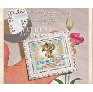 Мини Картина Магнит с тема Ангелче :: Подаръци за Свето Кръщене №32-2