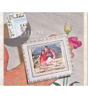 Магнити с Релефна Винтидж Рамкa и Снимка :: Сватбени Подаръци #32-2