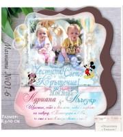 """""""МиKи Маус"""" Магнити със Снимка за Кръщене или Рожден Ден №01-6"""