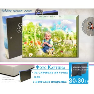 Фото Картина с Дизайн за Кръщене и Рожден Ден №20-3