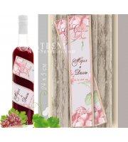 """Сватбен Етикет """"Лиана"""" в Цветове по Избор :: #01-22"""