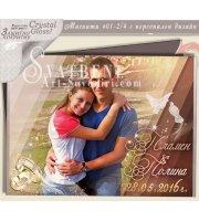 Сватбен Дизайн с Акцент върху Снимката :: Магнити с CrystalGloss Покритие #01-2CG