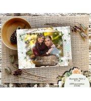 Рустик Магнити със Снимка и акцент Бели цветя :: Подаръци за гостите #01-2