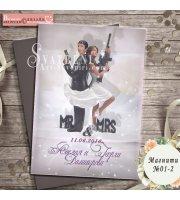 """Дизайн """"Mr&Mrs Action"""" :: Сватбени магнити #01-2"""