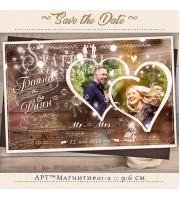 Магнити със снимка и тема рустик дърво :: Сватбени Подаръци №01-2