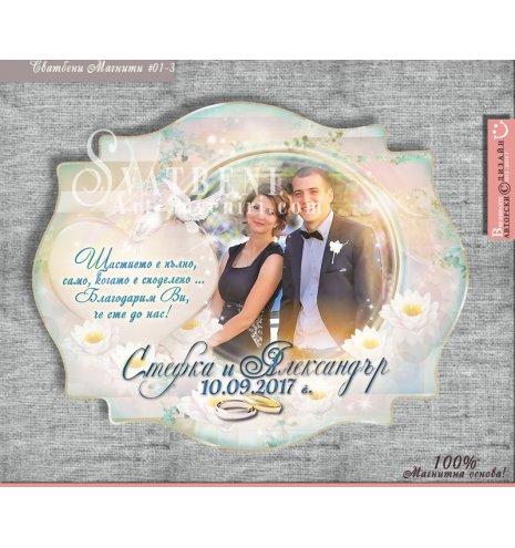 Магнити със снимка, послание и цветова гама по избор № 01-3 (Винтидж форма магнитни стикери :: 102:76 мм.) АРТ™