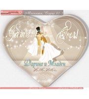 Game Over - Младоженци Дарлинг с Форма Сърце №01-5