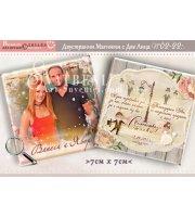 """Двустранни Магнити със Снимка и дизайн """"Младоженци Тино"""" №: 02-22"""
