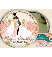 """Огледалца - Подарък за Гостите :: Сватбен Дизайн """"Дарлинг""""  #07-8"""