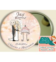 Младоженци Болди в Цветове по Избор :: Сватбени Огледалца #07-7