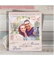 """Магнити с дизайн """"Призмата на любовта"""" :: Подаръци за гостите #01-2"""